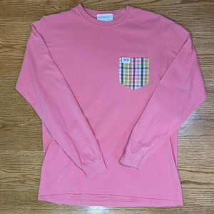 Fraternity Collection Pink LS Size Women's Medium
